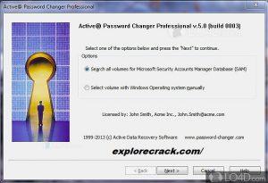 Active Password Changer 11.0 Crack Serial Key ISO Full Download 2021